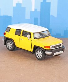 Kinsmart Die Cast Pull Back Toyota F J Cruiser Toy Car - Yellow