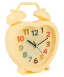 Heart Shaped Alarm Clock - Cream