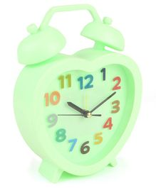 Heart Shaped Alarm Clock - Light Green