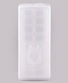 Ice Mould Box with Lid - White