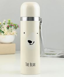 Water Bottle Printed Cream - 500 ml