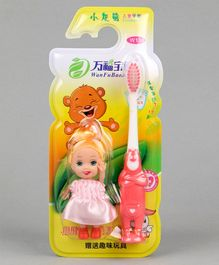 Baby Toothbrush with Doll - Pink