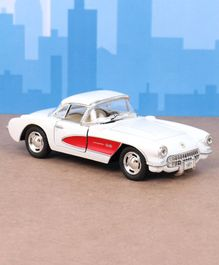 Kinsmart Die Cast Pull Back Chevy Corvette Toy Car - White