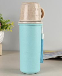 Sipper Bottle with Mug Pink Cream - 450 ml