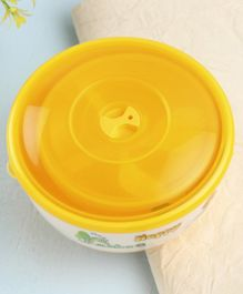 Feeding Bowl Set with Fork Pack of 4 Yellow - 1100 ml, 500 ml