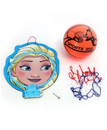Disney Frozen Elsa Printed Basket Ball Set - Orange