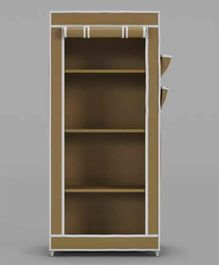Fabura Collapsible Storage Unit with 4 Shelves - Beige