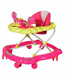 Cosmo Musical Baby Walker with Play Tray - Pink Yellow