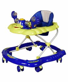 Cosmo Musical Baby Walker with Play Tray - Blue Yellow