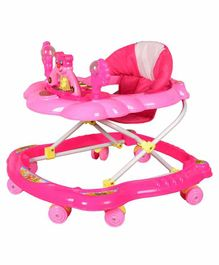 Cosmo Musical Baby Walker with Play Tray - Pink