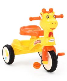 Giraffe Tricycle with Music - Yellow