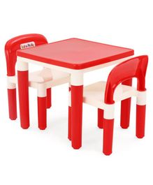 Detachable Light weight Table Chair Set - Red