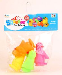 IToys Animal Shaped Squeaky Bath Toys Pack of 4 - Multicolour