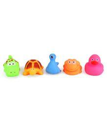 IToys Animal Shaped Squeaky Bath Toys Pack of 5 - Multicolour