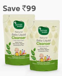 Mother Sparsh Natural Baby Liquid Cleanser - 1 Litre