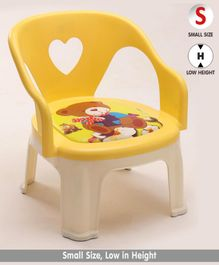 Chair with Backrest (Color & Print May Vary)