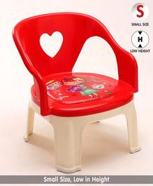Chair with Backrest Doll Print - Red