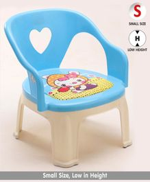 Chair with Backrest Doll Print - Blue