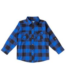 Kid Studio Checked Full Sleeves Shirt - Blue