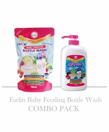Farlin Baby Feeding Bottle Wash Combo Pack of 2 - 700 ml Each