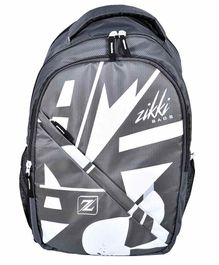 Zikki Bags School Backpack Grey - 18 Inches