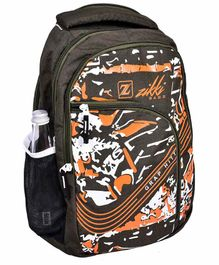 Zikki Bags School Backpack Brown- 16 Inches