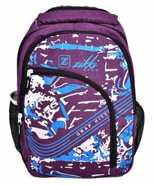 Zikki Bags School Backpack Purple - 16 Inches