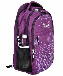 Zikki Bag Light Weight & Durable School Backpack Purple - 16 Inches