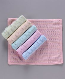 Simply Wash Cloths Polka Dot Print Pack of 6 - Multicolour