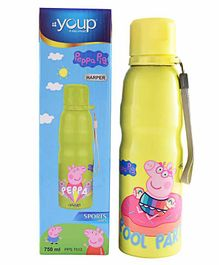 Youp Peppa Pig Stainless Steel Water Bottle Yellow - 750 ml