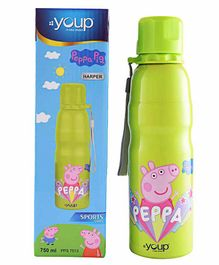 Youp Peppa Pig Stainless Steel Water Bottle Green - 750 ml