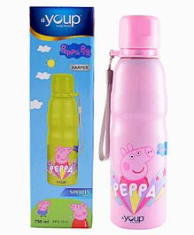Youp Peppa Pig Stainless Steel Water Bottle Pink - 750 ml