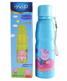 Youp Peppa Pig Stainless Steel Water Bottle Blue - 750 ml