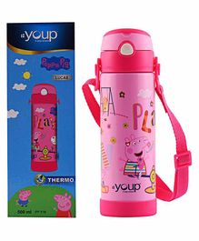 Youp Peppa Pig Sipper Water Bottle Pink - 500 ml