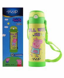 Youp Peppa Pig Sipper Water Bottle Green - 500 ml