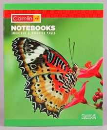 Camlin Small Unruled Notebook Butterfly Print - 164 Pages