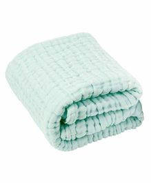 Moms Home Super Soft Absorbent Muslin 6 Layer Towel - Green