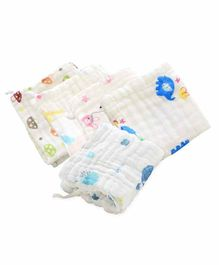 Mom's Home Absorbent Muslin Wash Cloths Pack of 5 - White