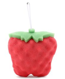 Babyhug Strawberry Shaped Bath Sponge - Red