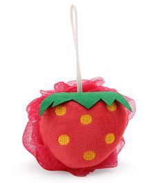 Babyhug Strawberry Sponge Bath Loofah - Red