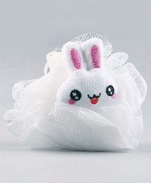 Babyhug Bunny Shaped Bath Loofah - White