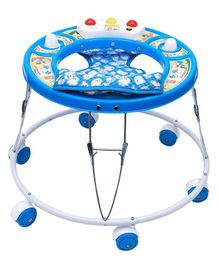 Maanit Baby Walker with Double Horn - Blue