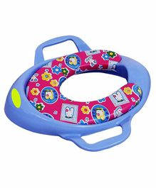 Maanit Soft Cushioned Potty Seat with Handle - Blue