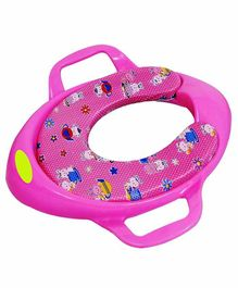 Maanit Soft Cushioned Potty Seat with Handle - Pink