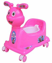 Mannit Potty Training Chair with Wheels - Pink