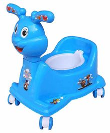 Mannit Potty Training Chair with Wheels - Blue