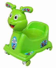 Mannit Potty Training Chair with Wheels - Green