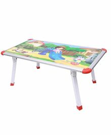 Maanit Printed Kids Wooden Table - White & Multicolor