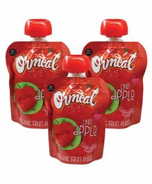 Ormeal only Apple Purée Pack of 3  - 90 gm ( Each Pack)