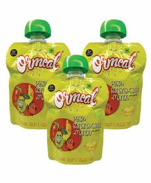 Ormeal Organic Pear, Carrot, Banana & Mango Baby Food Pack of 3 - 90 g Each